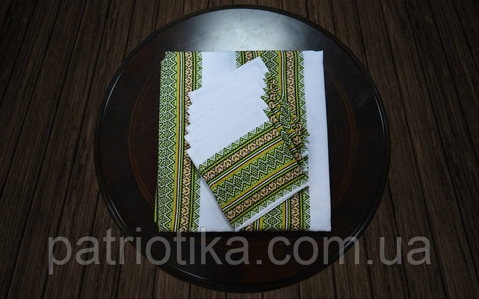 Набор столовый зеленый | Набір столовий зелений 120х140, фото 2