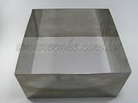 Нержавеющая форма для выпекания, квадрат 12*12 см, h-10 см