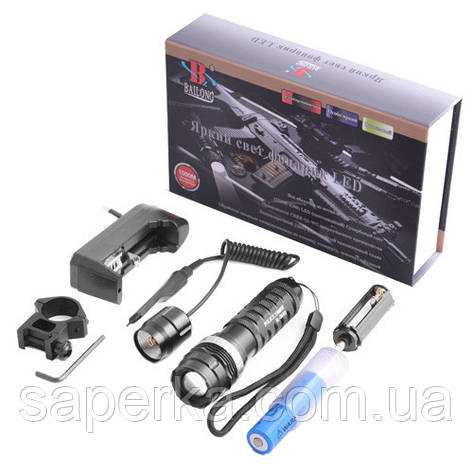 Подствольный фонарик Police BL-8483 3000W+выносная кнопка, фото 2