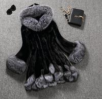 Женская меховая шуба c капюшоном . Модель 1022, фото 1