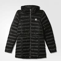 Женский зимний пуховик Slim Coat Adidas (Артикул:AY4765)