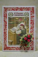 """Новогодняя открытка """"Дедушка Мороз"""" (ручная робота)"""