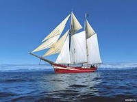 Плывущий корабль