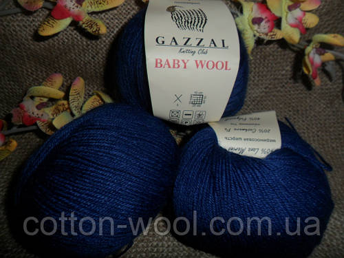 Gazzal Baby wool (Газзал беби Вул)  802 чернильный