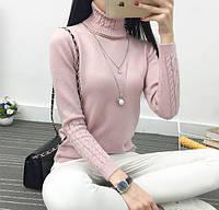 Женский модный свитер под горло (3 цвета)