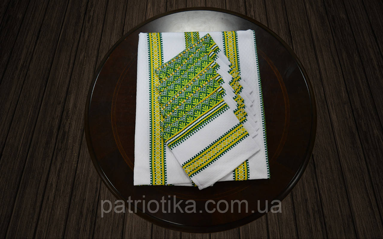 Комплект столовый зеленый | Комплект столовий зелений 190х140