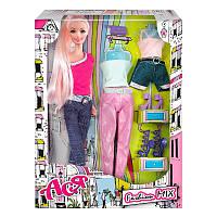 Кукла Ася Модный микс; 28 см; блондинка; вариант 1