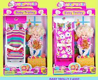 Кукла маленькая Susy 2933 24шт2 с коляской 25 см