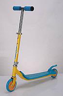 Самокат SC16002 (6шт) железо,2 колеса PVC голубой,оранж