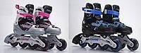 Ролики RS16039 (6шт) р.S 31-34, металл.рама,колеса PU,1 свет,2 цвета