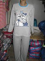 Пижама женская K.S.M. с начесом Мишки