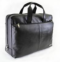 Чоловічий портфель з натуральної шкіри Vesson 4222 чорний