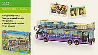 Конструктор Brick 1123 Экскурсионный автобус 455 дет., 6+лет