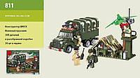 Конструктор Brick 811 Военный грузовик 308 дет., 6+ лет, в разобр. кор. 34*26*5cm