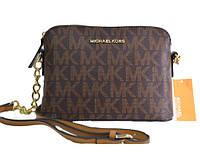 Брендовая сумка Michael Kors Майкл Корс коричневая маленького размера