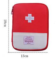 Аптечка-органайзер для дома и в путешествия. Красная.18*14см.