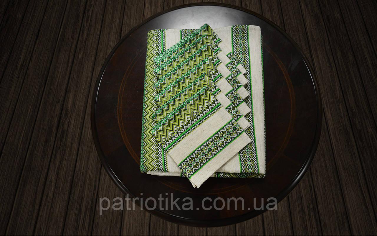 Набор столовый зеленый | Набір столовий зелений 190х140