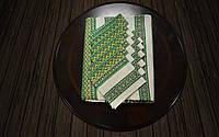 Набор столовый зеленый   Набір столовий зелений 190х140