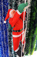 Оптом! - Фигура Деда Мороза (Санта Клауса) 50 см на лестнице