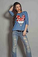 Блуза Микки разлетайка размер 44