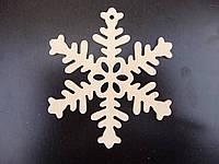 Снежинка №2, игрушка из дерева, 10 см