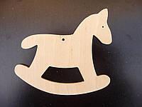 Лошадка, елочная игрушка из дерева, 10 см