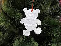 Медвежонок, 15 см, елочная игрушка из пенопласта