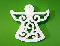Ангел, 20х20 см, толщина 5 см, Подвесное украшение из пенопласта