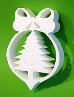 Елка, 25х20 см, толщина 5 см, Подвесное украшение из пенопласта