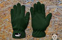 Зеленые перчатки зимкие пума ,Puma