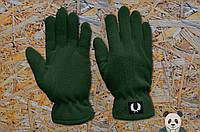 Стильные зеленые перчатки фред пери,fred perry