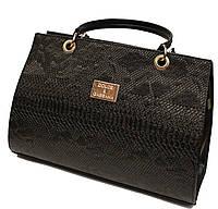 Сумка женская классическая каркасная Dolce & Gabbana под крокадиловую кожу 220-1
