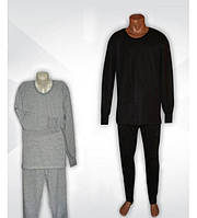 Пижама для сна теплая трикотажная мужская с начесом, р.р.44-70.
