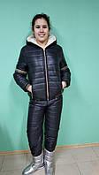 Женский модный черный лыжный теплый костюм VERSACE. Арт-652