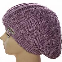 Вязаная шапка для девушки 2016