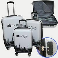 "Набор чемоданов 3шт 20""+24""+28"" World, 7616-2"