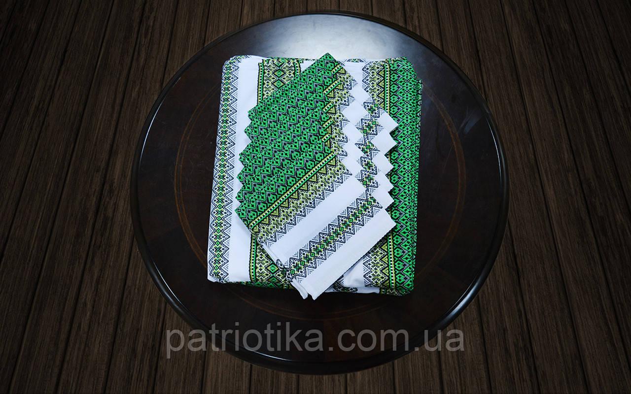 Комплект столовый зеленый | Комплект столовий зелений 230х140