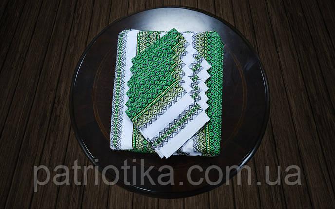 Комплект столовый зеленый | Комплект столовий зелений 230х140, фото 2