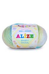 Alize Baby Wool Batik (Ализе Беби вул батик) 40 % шерсть ,20 % бамбук -,40 % акрил