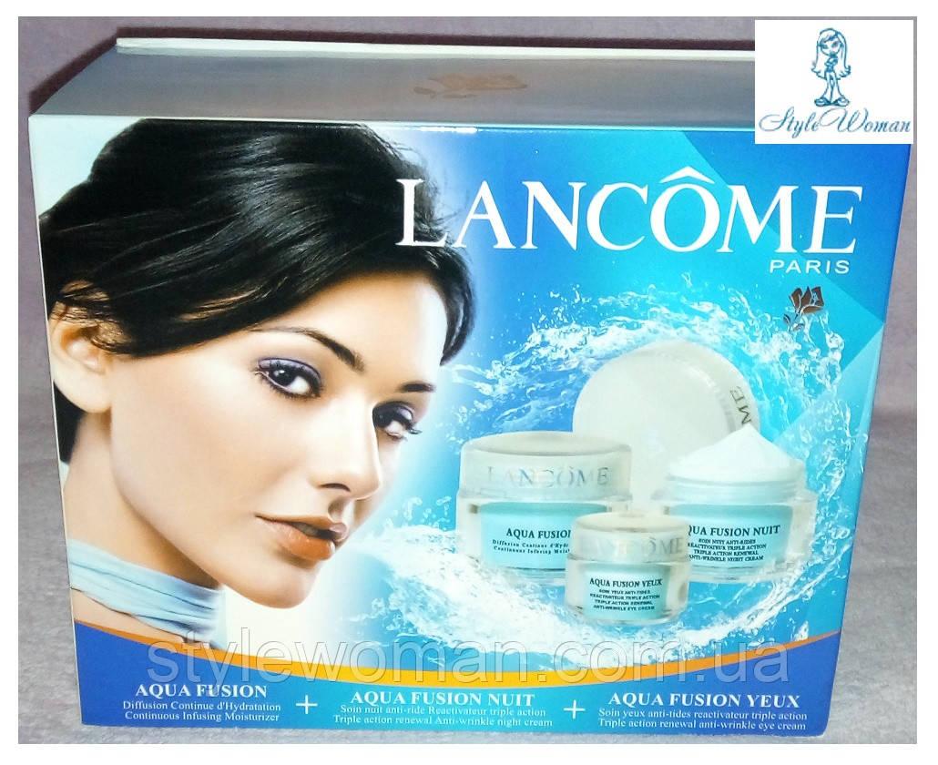 Подарунковий набір кремів для догляду за обличчям Lancome Aqua Fusion