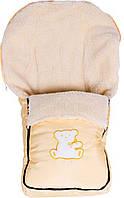 Зимний конверт Мишка, бежево-золотистый мишка с бантиком, Умка