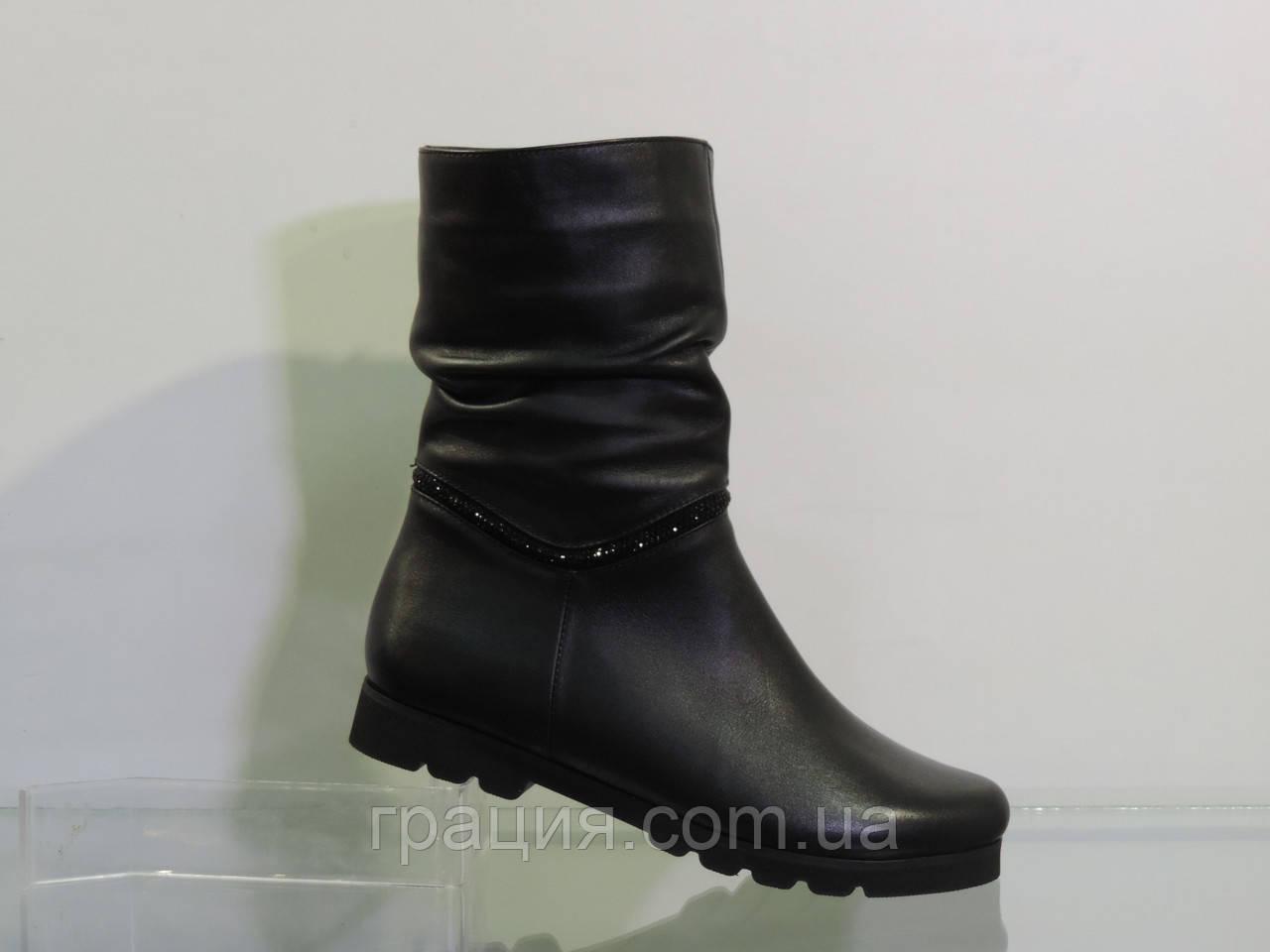 Ботинки молодежные кожаные зимние