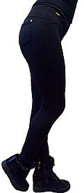 Брючные лосины  НОРМА с начесом № 137 черные