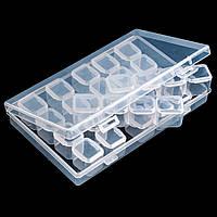 Контейнер со съемными ячейками с крышками, 28 секций