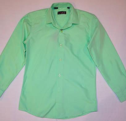 Салатовая рубашка 128, 140, 152