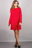 """Превосходное трикотажное платье """"Maldiva"""" красного цвета с перфорацией , р.44-52"""