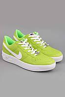 Кроссовки Nike Air Force 1 Low зеленые.  Обувь спортивная. Спортивная обувь. Обувь для спорта.