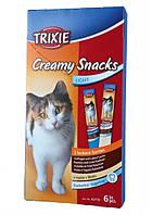"""Жидкое лакомство для котов """"Creamy Snacks"""" (лосось)/(птица+печень), 6х15 гр"""