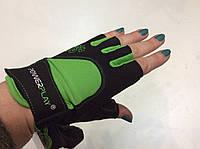Перчатки для фитнеса Power Play без пальцев зеленые р. S