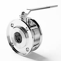 Кран шаровый LD фланцевый  DN 40/32 PN 1,6  мм стандартнопроходной L 67 мм